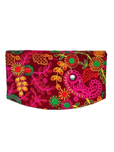 Sphinx Multicolored embroidery wallet 1