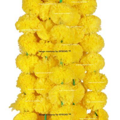 sphinx artificial marigold fluffy flower garlands 1