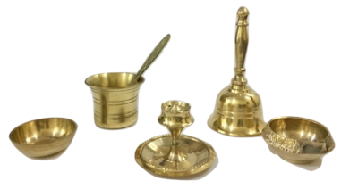sphinx brass pooja thali set 2