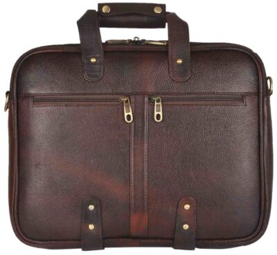 sphinx full grain leather laptop bag dark brown