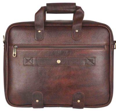 sphinx full grain leather laptop bag dark brown1