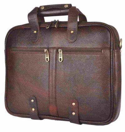 sphinx full grain leather laptop bag dark brown2