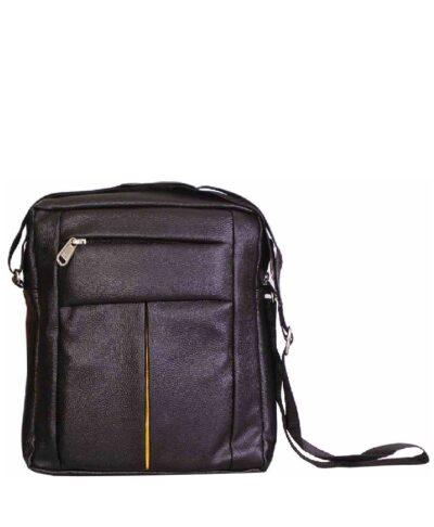 sphinx rich pu leatherette sling bag black