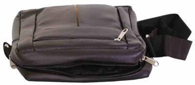 sphinx rich pu leatherette sling bag black2