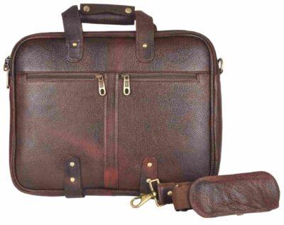sphinx sampre full grain leather laptop bag dark brown3