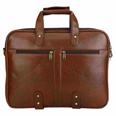 sphinx synthetic leather laptop bag brown