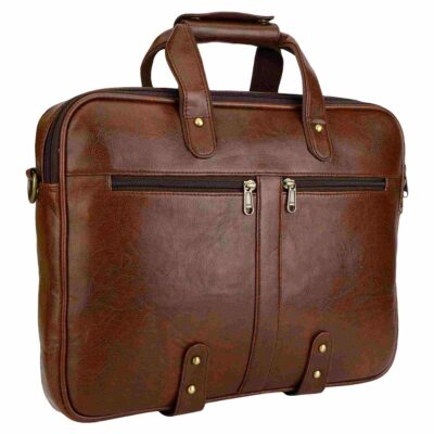 sphinx synthetic leather laptop bag brown2