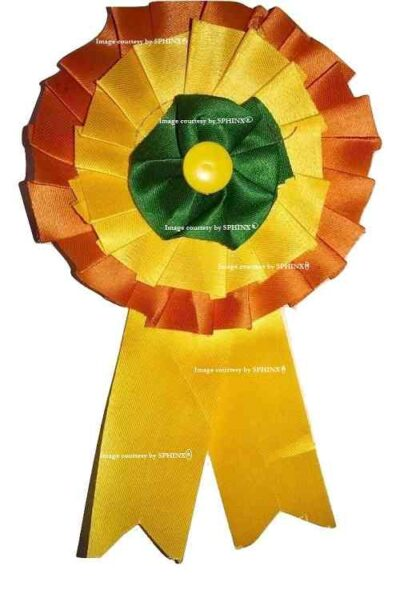Sphinx satin ribbon badge tricolored 1