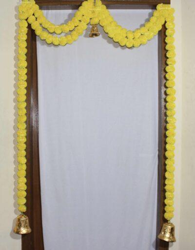 Sphinx artificial marigold fluffy flowers garlands bandarwal door toran – Yellow1