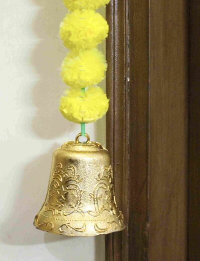 Sphinx artificial marigold fluffy flowers garlands bandarwal door toran – Yellow4