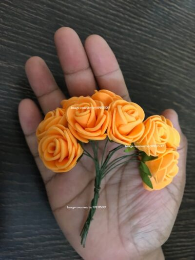 Sphinx orange tiny foam rose size guide