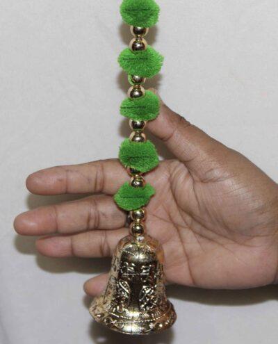 Sphinx pom pom beads and golden hanging bells torans 3