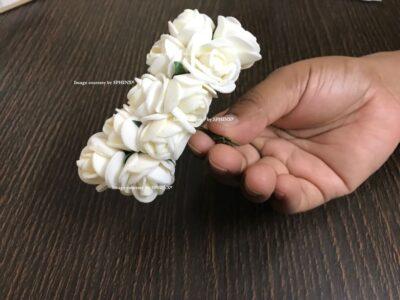 Sphinx tiny foam rose size idea white