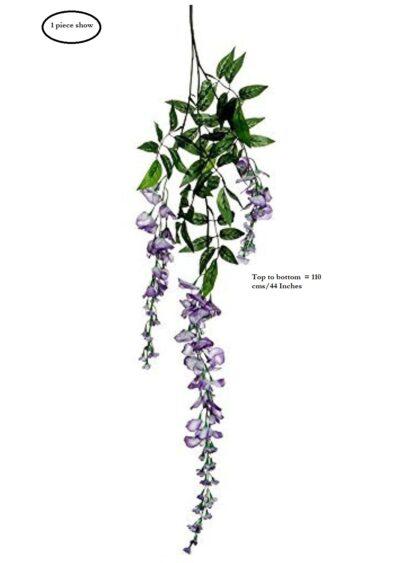 Sphinx artificial wisteria 110 cms lavender size guide 3