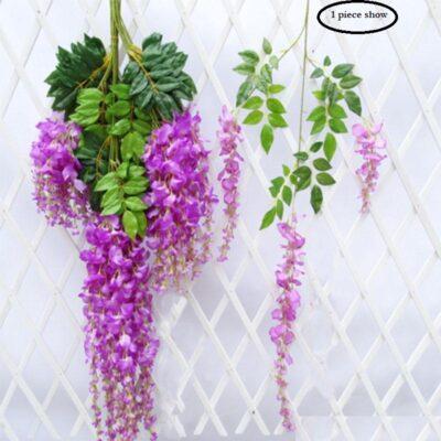 Sphinx artificial wisteria 110 cms purple bulk image 2