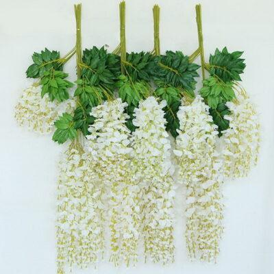 Sphinx artificial wisteria 110 cms white 3