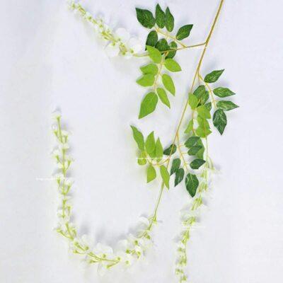 Sphinx artificial wisteria 110 cms white single piece show 2