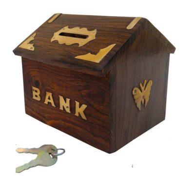 Sphinx Wooden Hut money bank 1