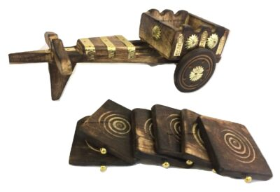 Sphinx wooden bugghi shaped coaster 4