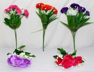 Sphinx multicolored artificial carnation flowers 2