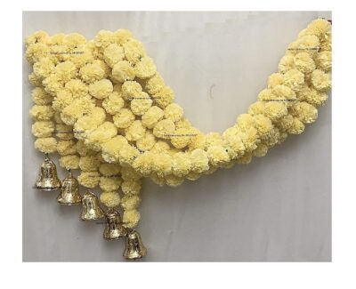 sphinx artificial fluffy marigold 5 ft strings with bell cream 1