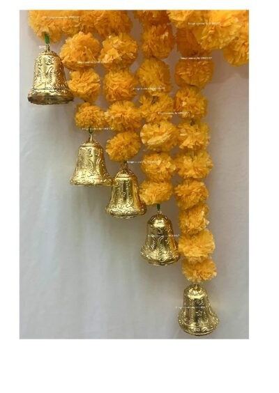 sphinx artificial fluffy marigold 5 ft strings with bell light orange 1