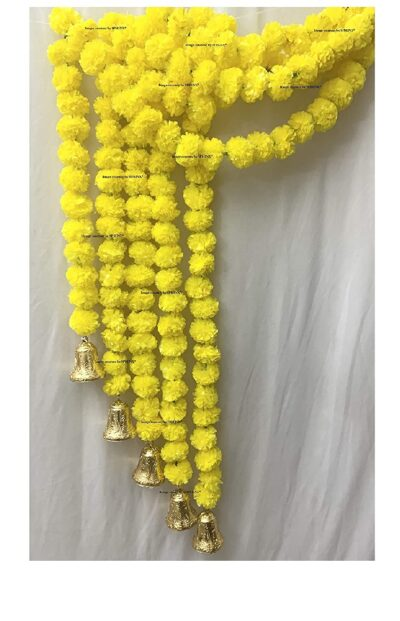 sphinx artificial fluffy marigold 5 ft strings with bell yellow 1
