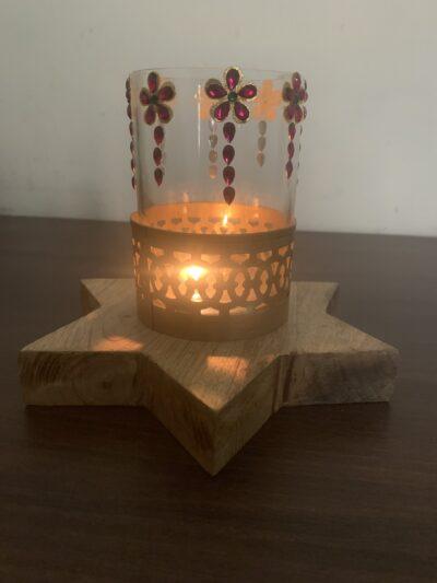 Sphinx star shape based candle holder 3