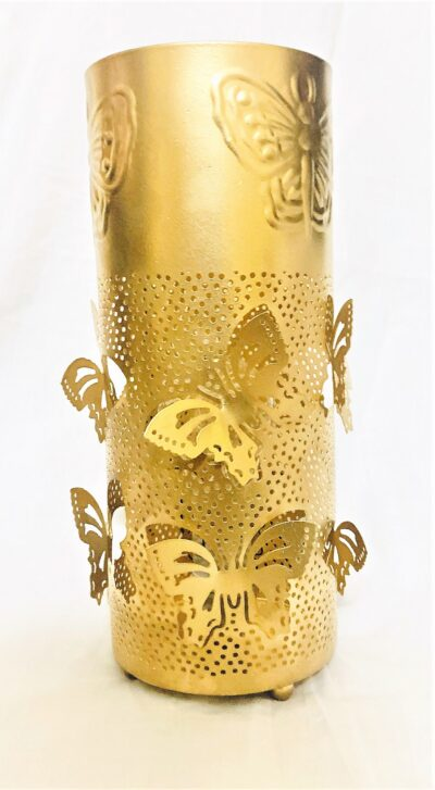 sphinx handcrafted metallic engraved butterfly cylindrical shape aroma diffurser decorative lantern 2