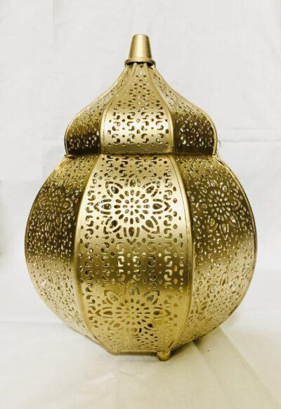 sphinx handcrafted metallic tombed matki shape roman aroma diffuser lantern golden 2