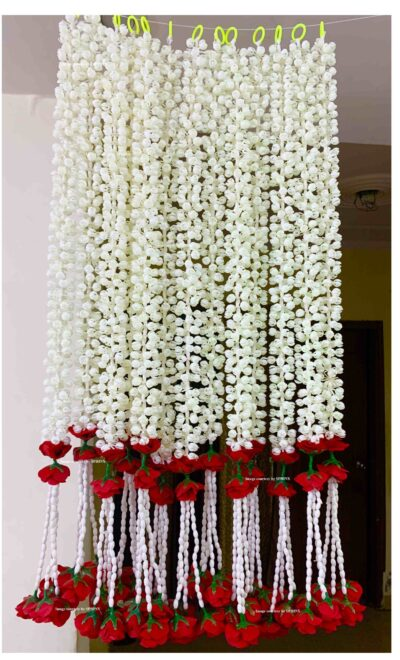 sphinx artificial jasmine and clustered rose strings 2