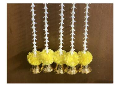 Sphinx artificial rajnigandha tuberose and genda with bell latkan yellow 1