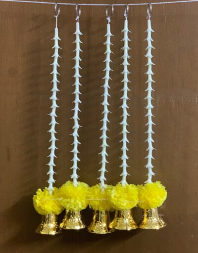 Sphinx artificial rajnigandha tuberose and genda with bell latkan yellow 2