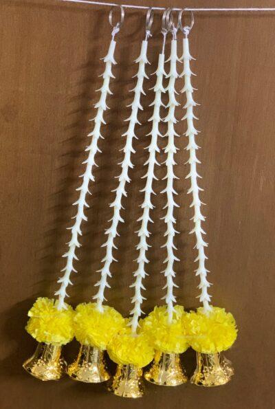 Sphinx artificial rajnigandha tuberose and genda with bell latkan yellow 3