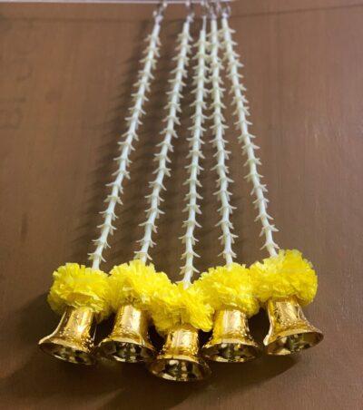 Sphinx artificial rajnigandha tuberose and genda with bell latkan yellow 4