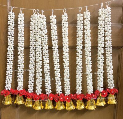 sphinx artificial jasmine and rose with bells strings approx 2.5 ft 2